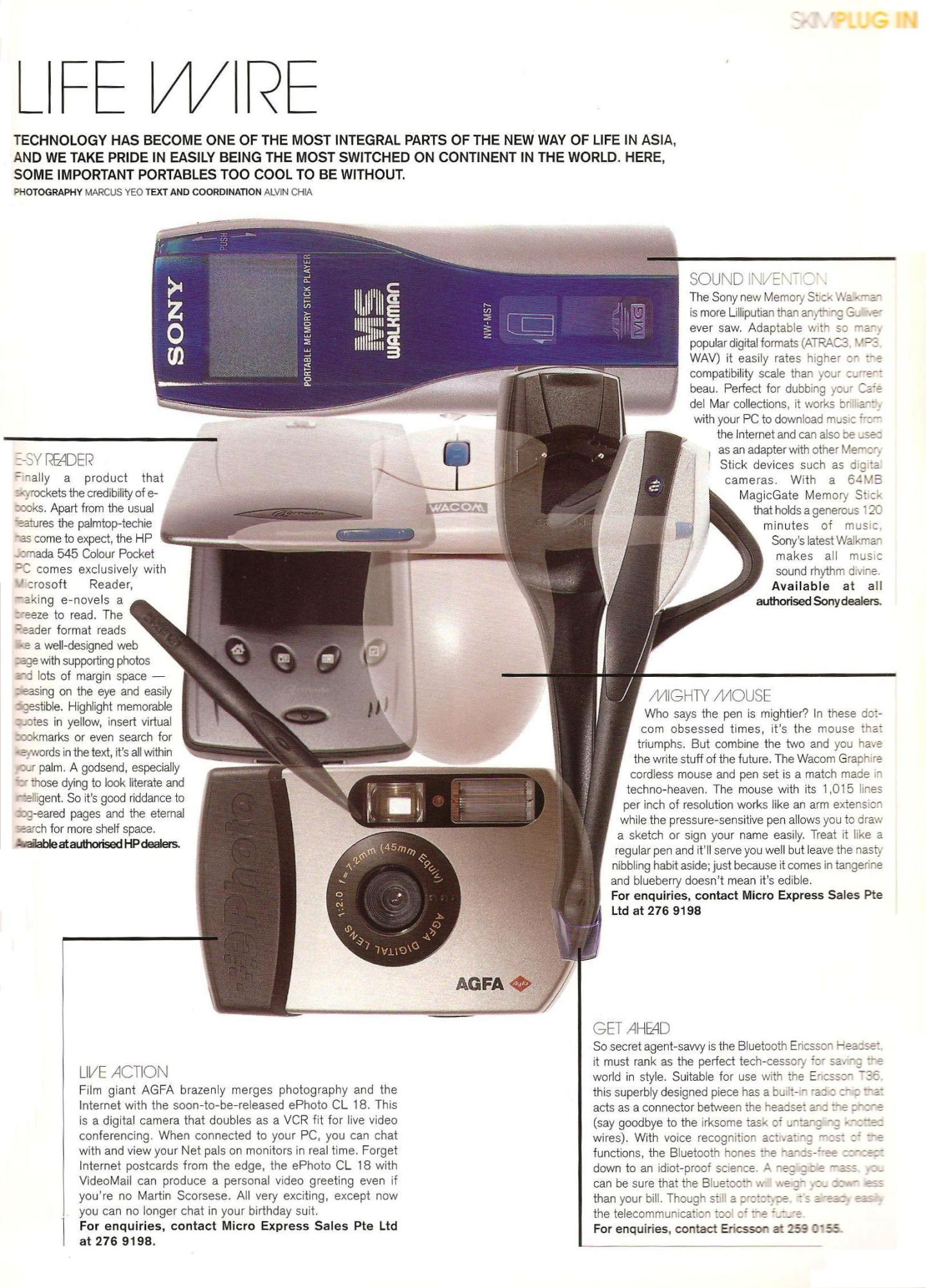 Technology product review for magazine in 2000