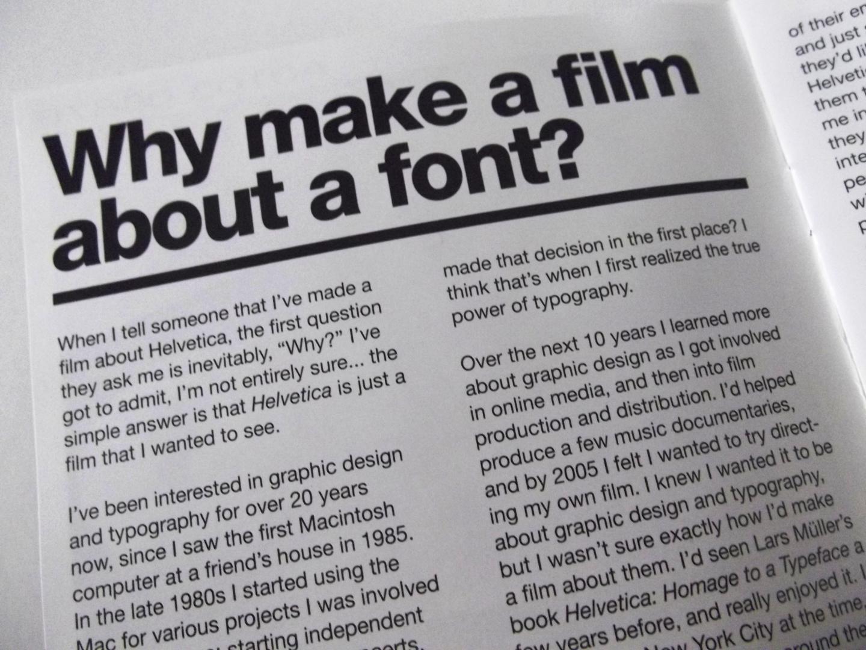 Helvetica DVD sleeve Intro