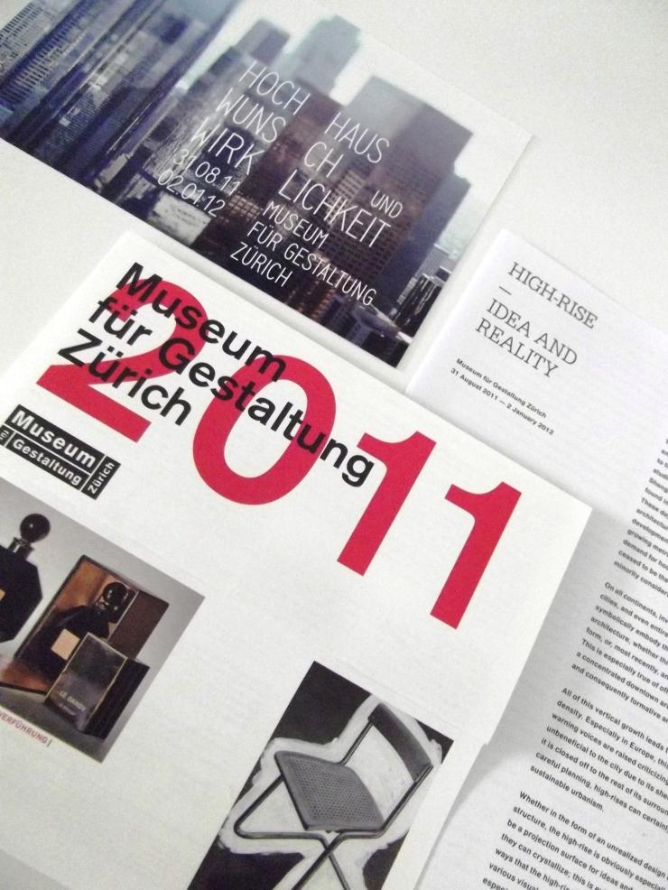 Museum für Gestaltung Zürich brochures