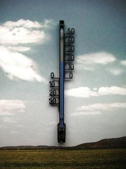 Daiso Thermometer with cut out numbers