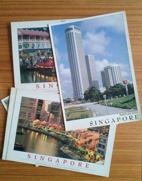 Vintage Singapore postcards