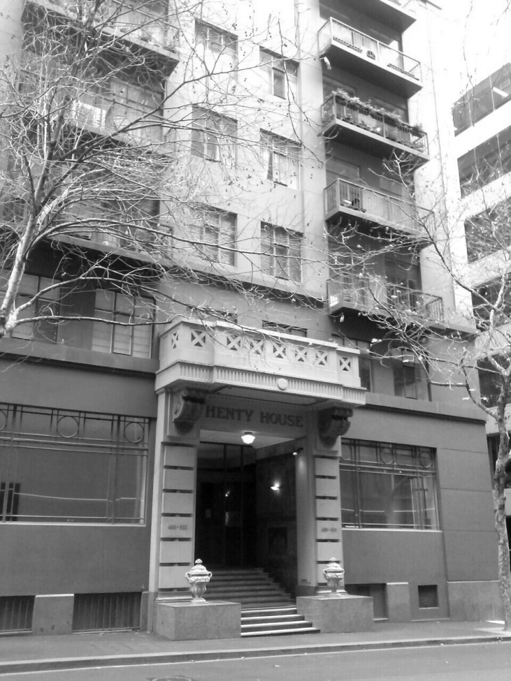 Henty House Melbourne Little Collins Street Facade