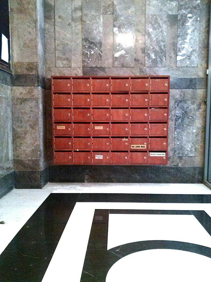 Henty House Melbourne vintage letterbox mailbox