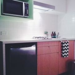 Kitchenette view Unit 911 268 Flinders Street Home@Flinders Melbourne Studio by Ideas Dispenser