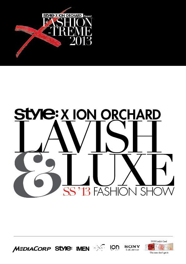 Fashion Show Digital Lookbook inside back cover Singapore