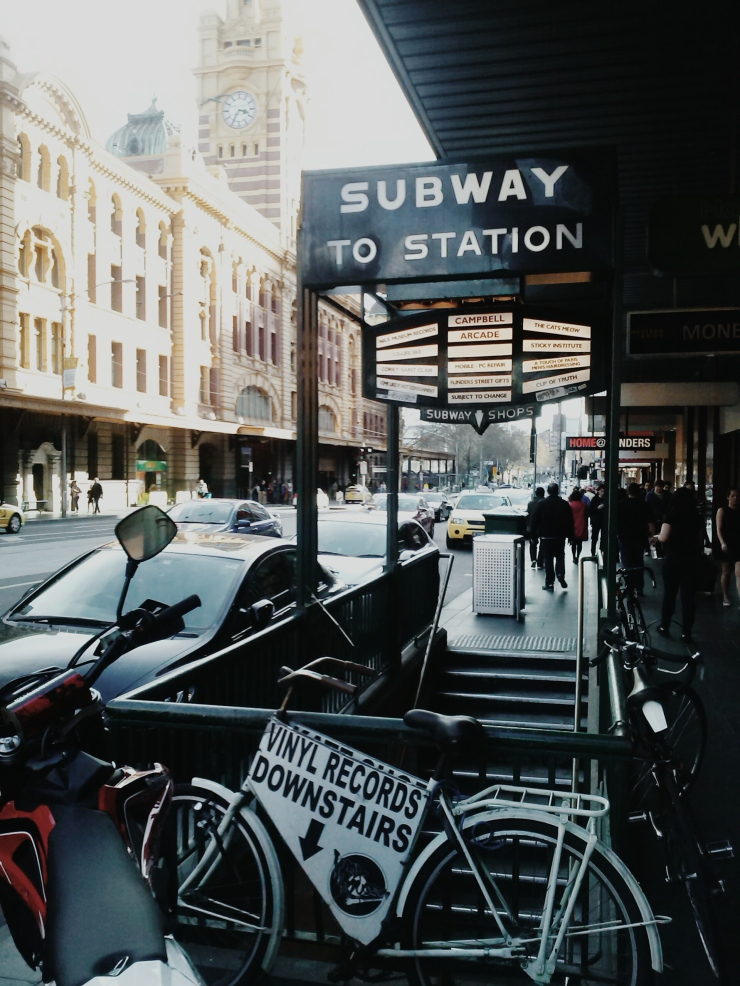 Flinder Street Station entrance underpass at Unit 911 268 Flinders Street Ideas Dispenser Concept Studio