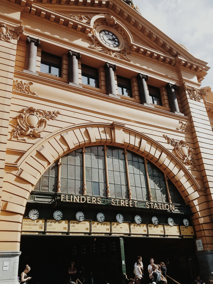 Flinders Street Station entrance close to Unit 911 268 Flinders Street Ideas Dispenser Concept Studio