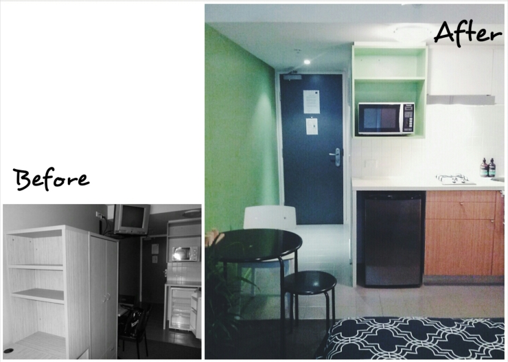 Before After Unit 911 268 Flinders Street Home at Flinders Ideas Dispenser Concept Studio Kitchen View