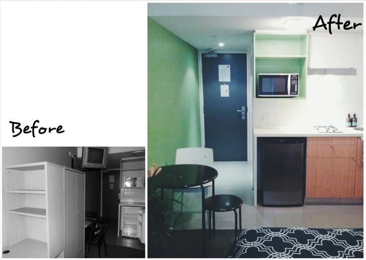 Before After Unit 911 268 Flinders Street Home at Flinders Ideas Dispenser Concept Studio Kitchen View