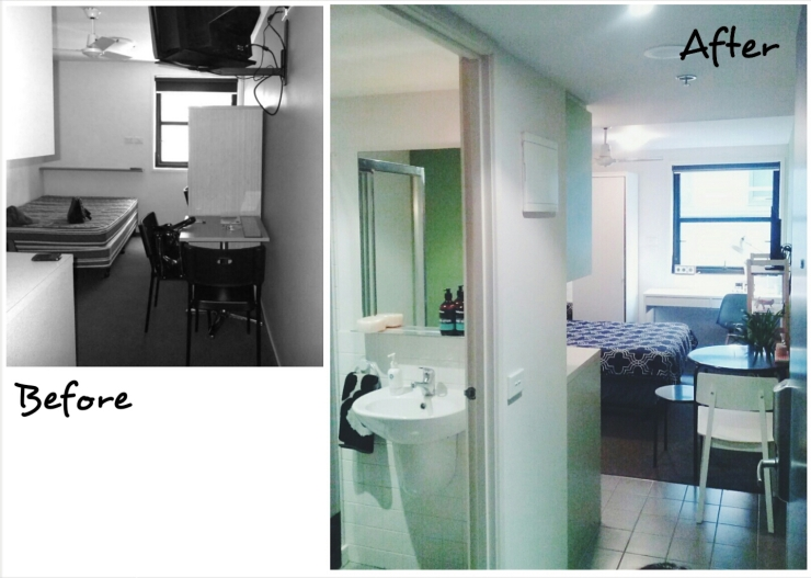 Before After Unit 911 268 Flinders Street Home at Flinders Ideas Dispenser Concept Studio Passage View