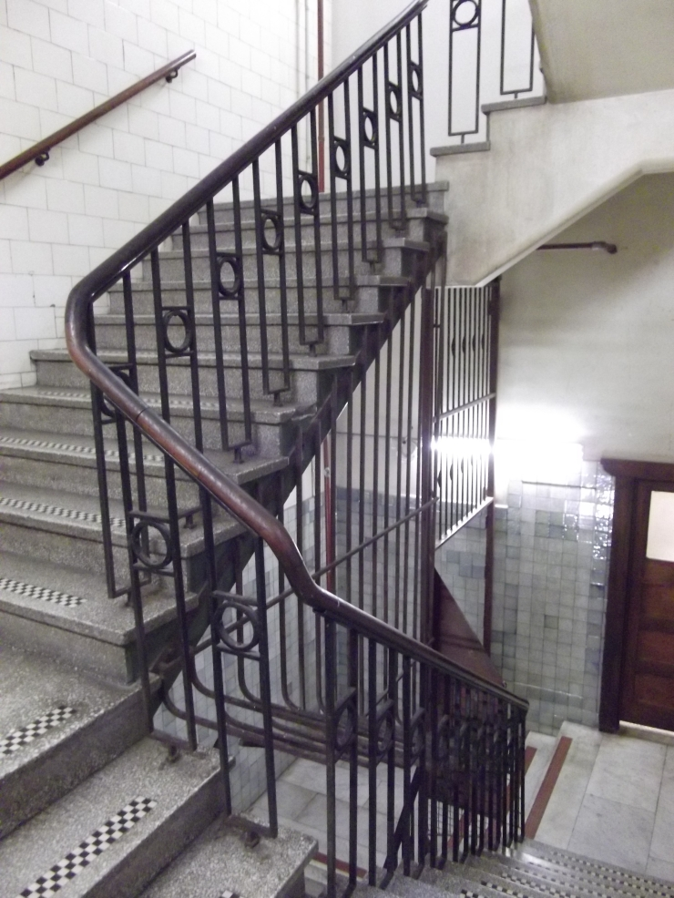 Flinders Quarter Shopping Night Nicholas Building stair well Flinders Lane Melbourne vintage heritage