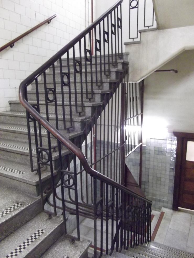 Flinders Quarter Shopping Night Nicholas Building stair well Flinders Lane Melbourne vintage heritage