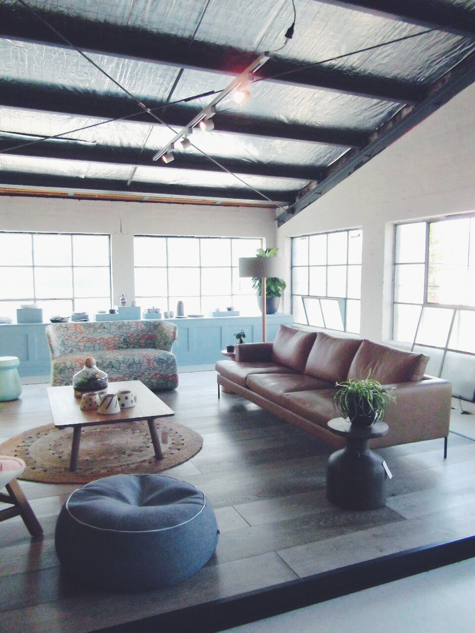 The Design Files Open House 2014 Collingwood Lounge living room industrial Melbourne