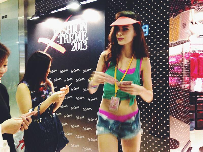 1c97d4c86 La Senza ION Orchard Singapore store opening lingerie event model flyers