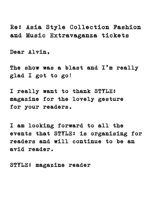 Magazine reader testimonial