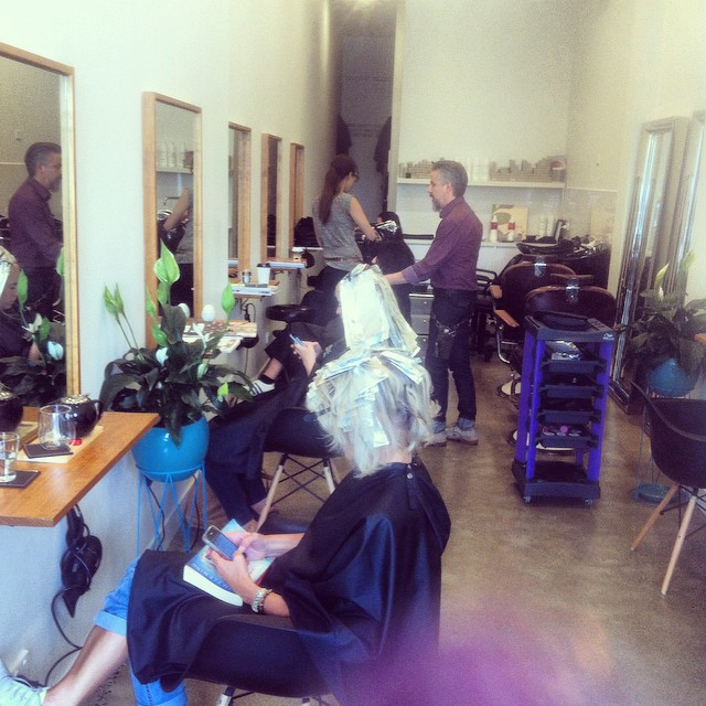 Jorge Viota Hairdressing Lygon Street Brunswick East Hard at work