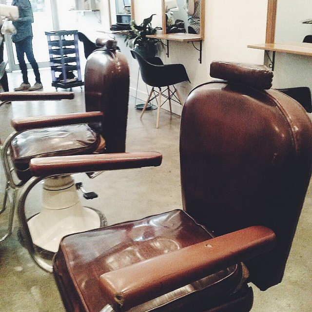 Jorge Viota Hairdressing Lygon Street Brunswick East vintage barber chairs