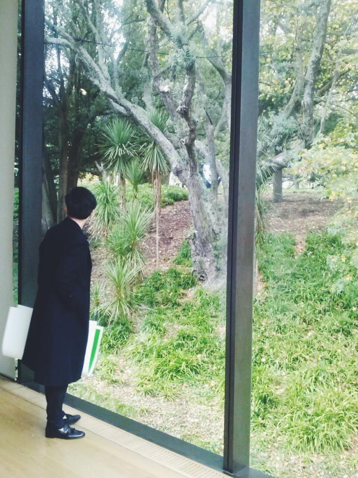 Art Gallery window view of garden