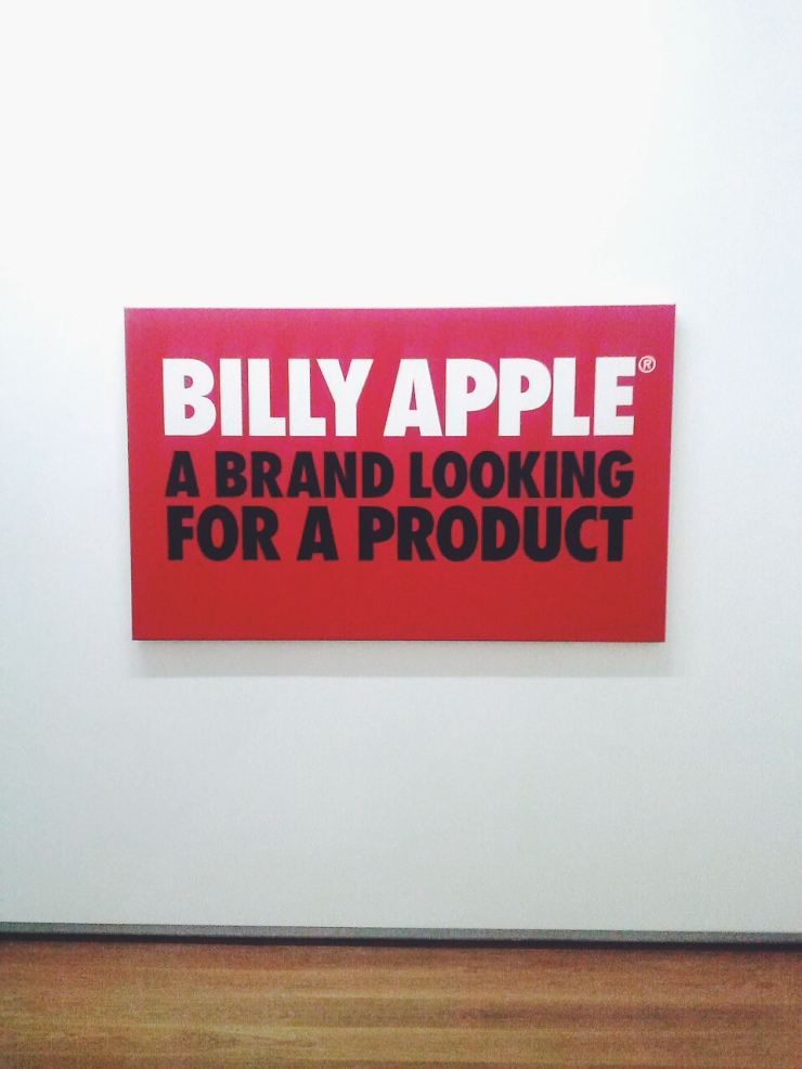 Auckland Art Gallery Billy Apple A brand looking for a product