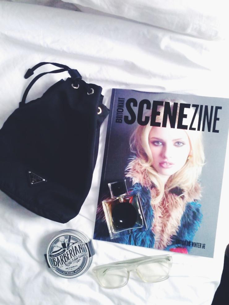 Auckland Britomart Scenezine magazine Prada pouch