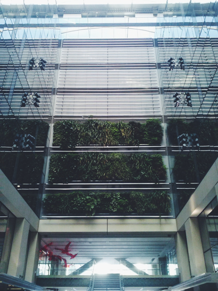 Auckland Britomart Vertical garden office building courtyard