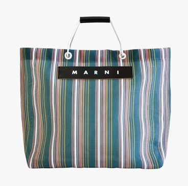 Le Bon Marche X Marni pop up market stall cart cabas