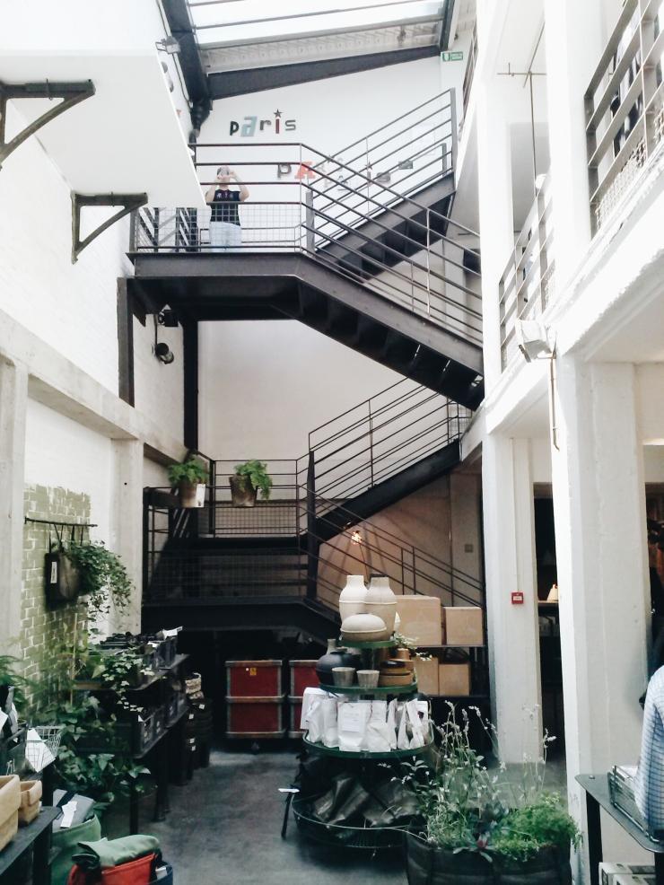 Merci Paris stairwell loft space