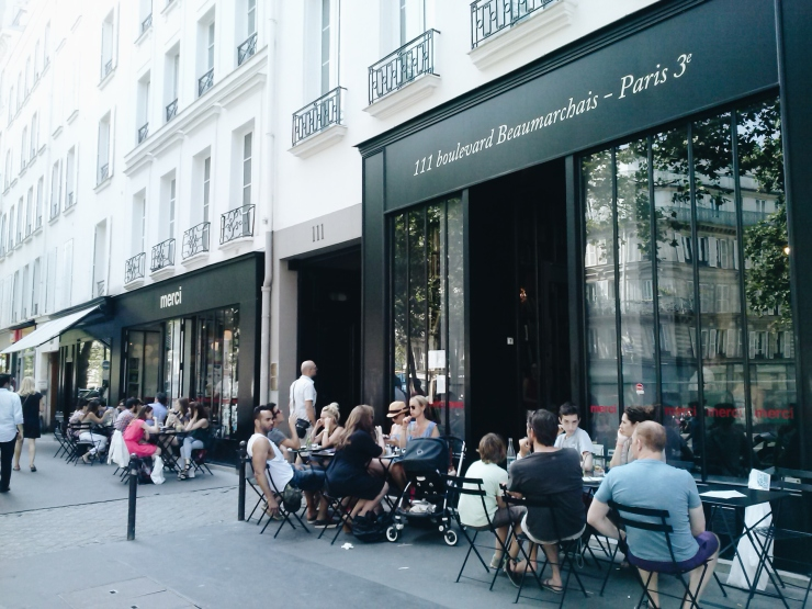 Merci Paris street level Boulevard Beaumarchais cafe