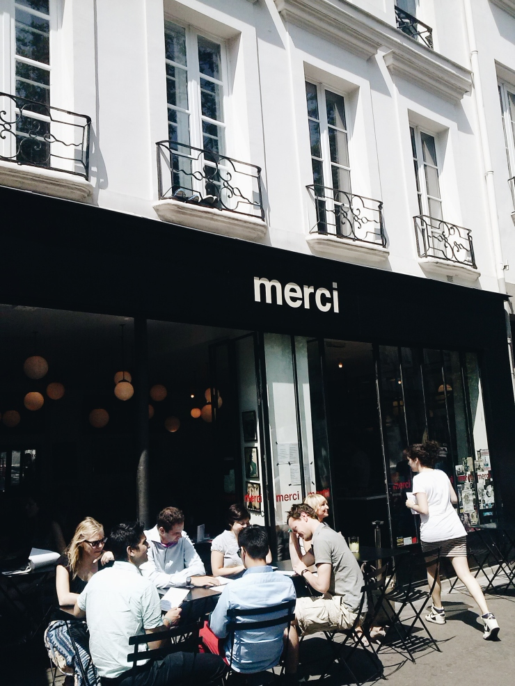 Merci Paris street level facade cafe