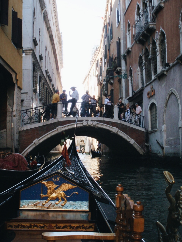 Venice Gondola bridge view
