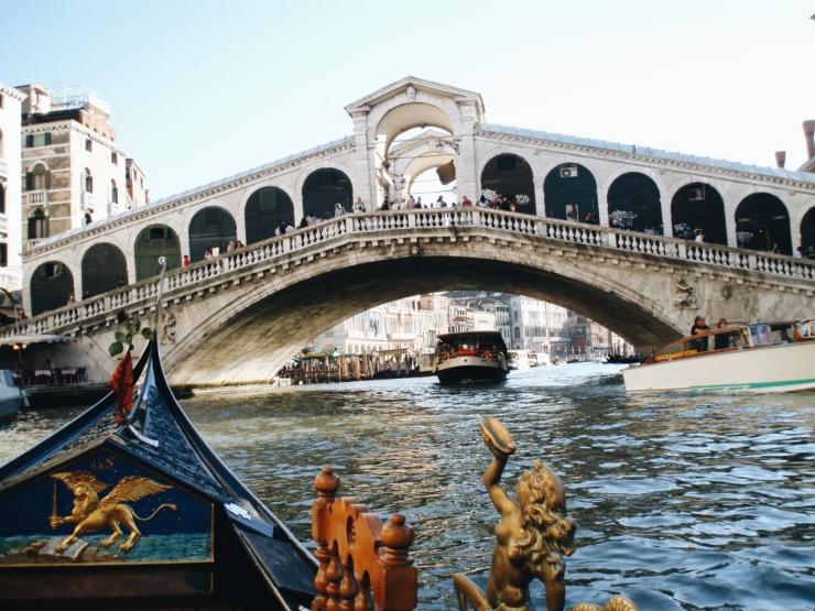 Venice landscape Ponte Rialto Bridge