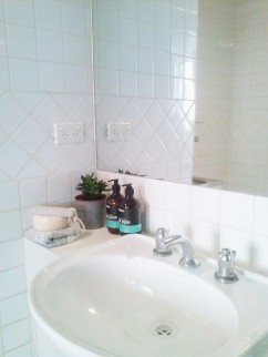 Henty House Unit 107 501 Little Collins Street Melbourne Bathroom basin view