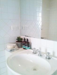 Henty House Unit 107 501 Little Collins Street Melbourne Bathroom basin view