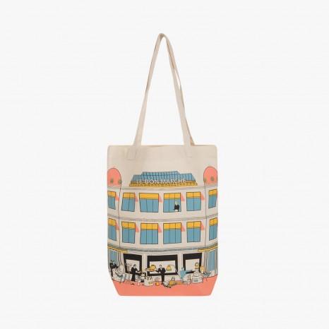 Le Bon Marche Paris department store in house design illustration ...