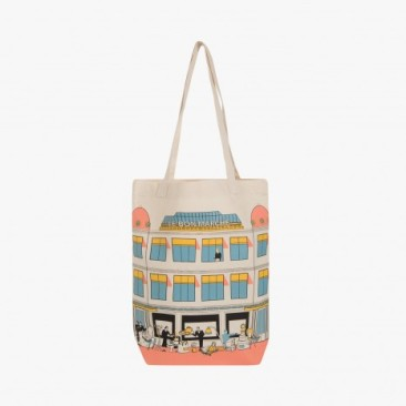 Le Bon Marche Paris department store in house design illustration Tote bag