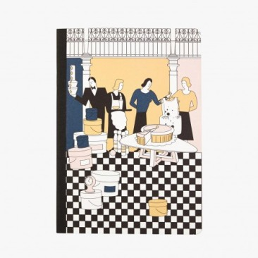 Le Bon Marche Paris department store in house design journal notebook