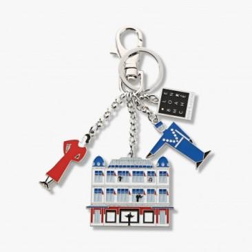 Le Bon Marche Paris department store in house design key ring