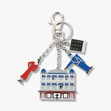 Le Bon Marche Paris department store in house design key ring
