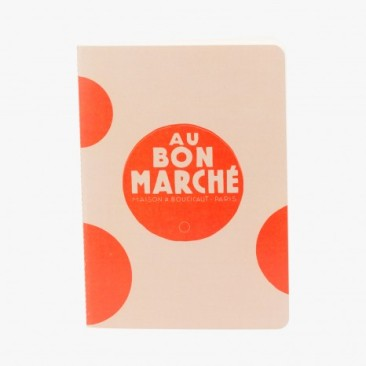 Le Bon Marche Paris department store in house design orange dotted notebook