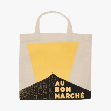 Le Bon Marche Paris department store in house design yellow tote