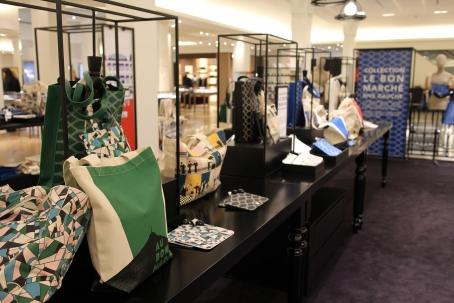 Le Bon Marche Paris in house designer merchandise display