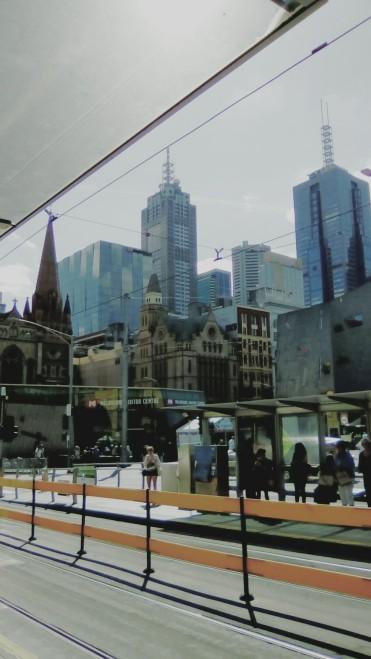 Flinders Street Tram Stop Federation Square Melbourne