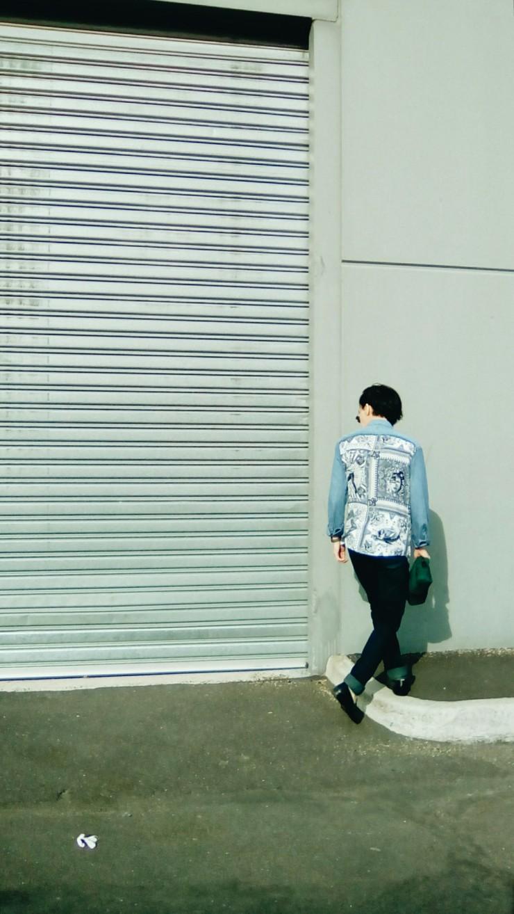 Jean Paul Gaultier X Target Australia Denim Bandana print shirt OOTD
