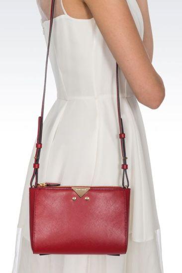 SHOULDER BAG IN SAFFIANO CALFSKIN on model