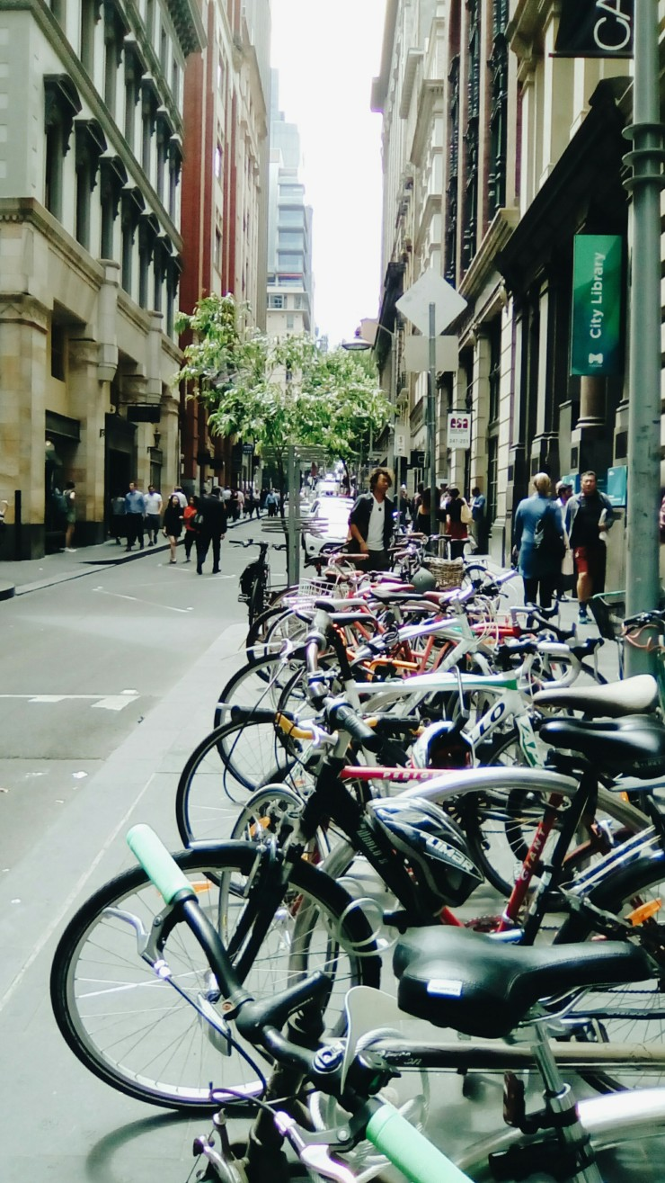 Flinders Lane bike stand Melbourne
