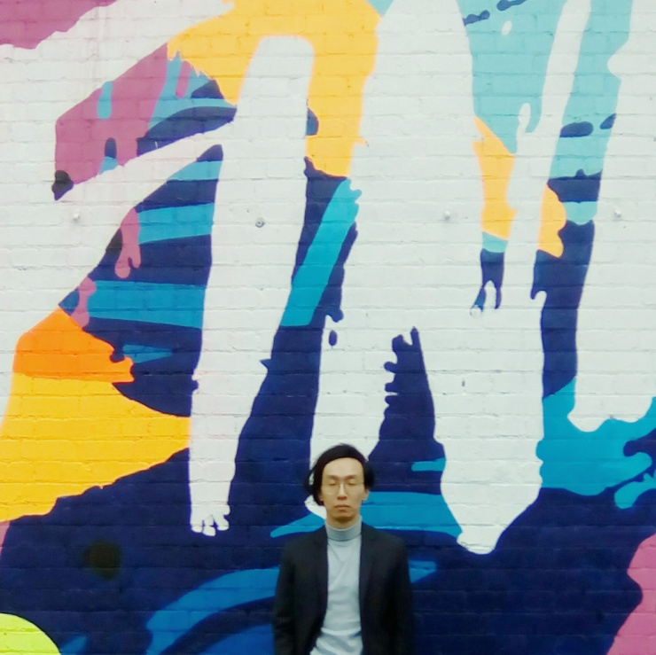 South Melbourne Wall mural street OOTD wearing H&M Prada vintage half