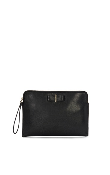 Karen-millen-bow-zip-clutch