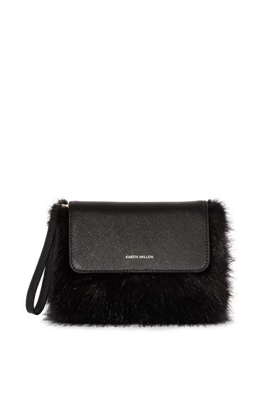 karen-millen-faux-fur-and-leather-clutch