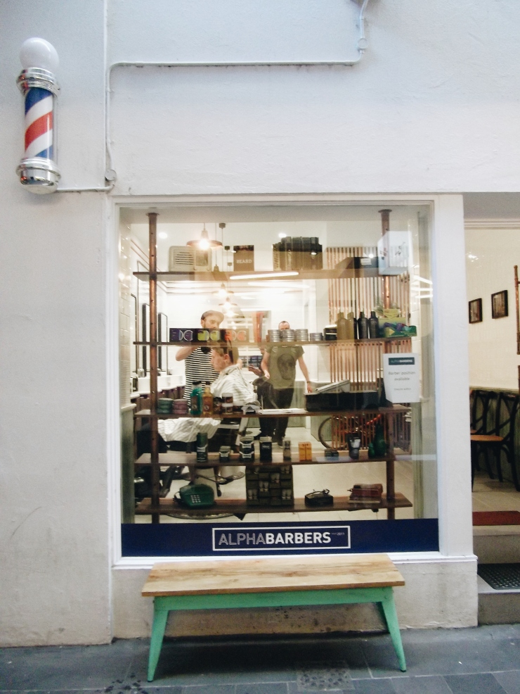 The Practical Man Flinders Lane opposite Alpha Barbers