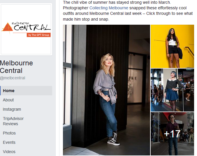 Melbourne Central Facebook Page